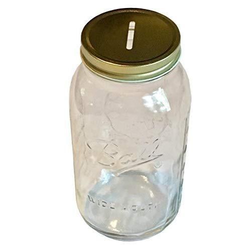 1 albañil jar con ranurado tapa insertar ancho boca mitad g