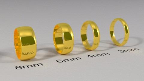 6ac7608576246 1 Aliança De Ouro 18k Com 8mm 5,5 Gramas - R  725,00 em Mercado Livre