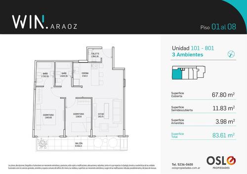 1 ambiente 41m2 con amenities