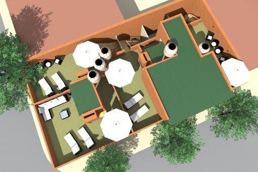 1 ambiente a estrenar sin expensas con patio y terraza