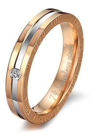 1 elegante anillo de mujer caballeros anillo Anillo de acero inoxidable anillo grabado m033