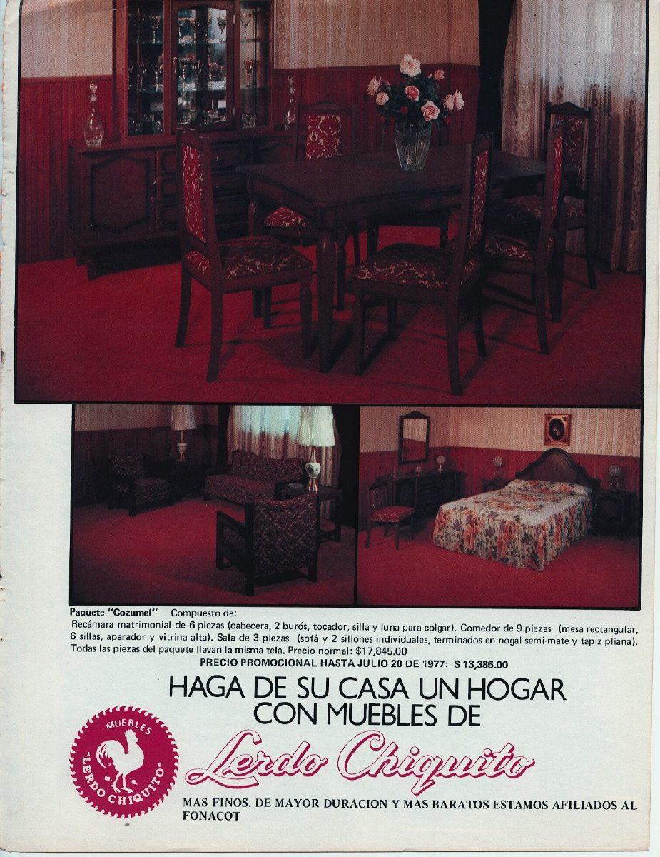 1 Anuncios Antiguo 70s Papel - Muebles Lerdo Chiquito - $ 50.00 en ...
