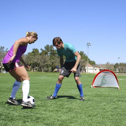 1 arco mini futbol hockey red plegable 76x45cm entrenamiento