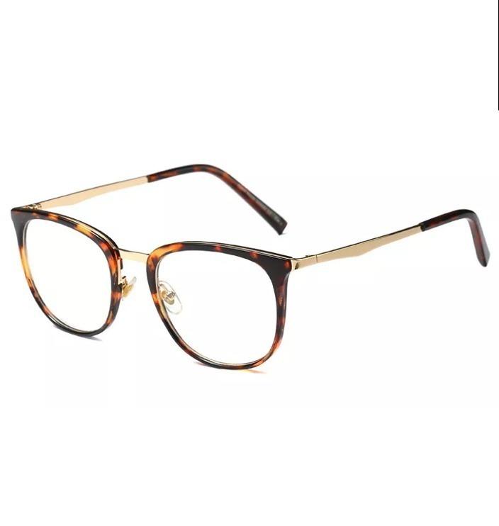 0b18fbf54 1 Armação Óculos De Grau Quadrada Feminina Retrô 2018 Preta - R$ 78,90 em  Mercado Livre