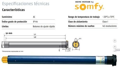 1 autatizacion motor cortina enrollable somfy lt50 al100%