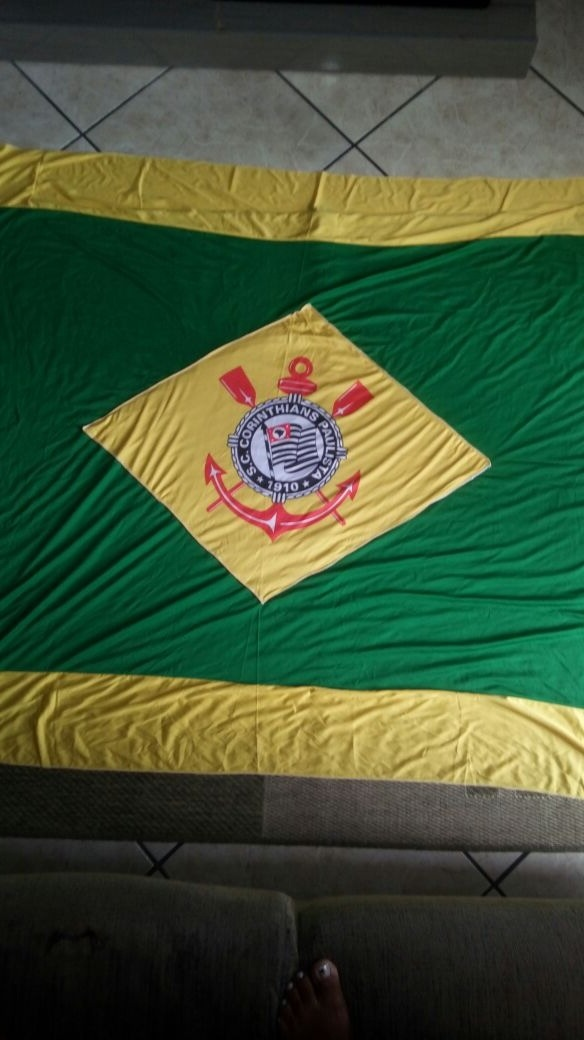 59fc4fdc42 1 Bandeira Brasil Símbolo Corinthians Timao + Frete - R  120