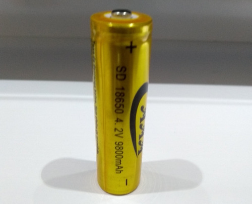 1 bateria lítio recarregável 18650 4.2v 9800mah