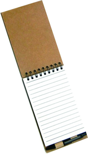 1 bloco de anotações ecológico, c/ post-it + caneta