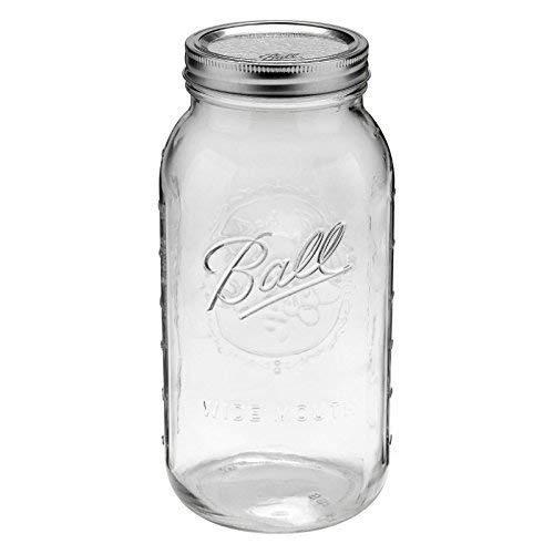 1 bola 64 oz ancho boca mitad galón albañil jar
