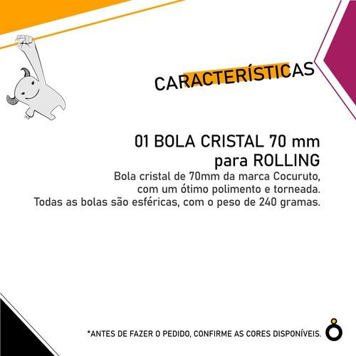 1 bola cristal 70 mm para contato rolling - malabares