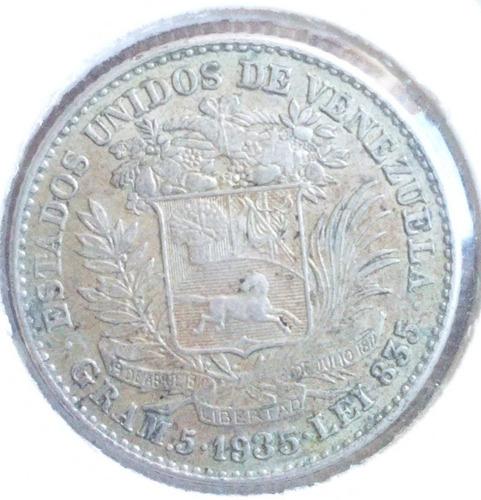 1 bolívar de 1935 en muy buen grado y agradable tono