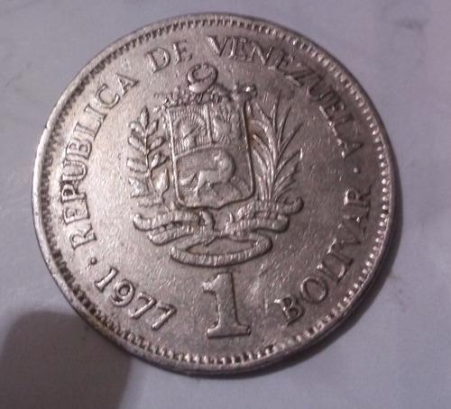 1 bolivar de 1977