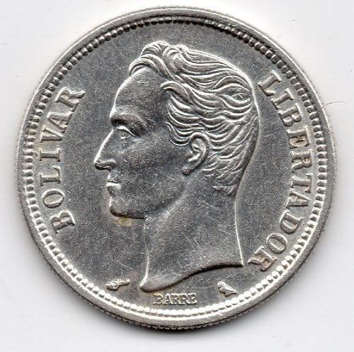 1 bolivar de plata 1960 moneda 5 $
