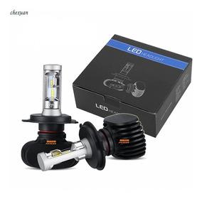 1 Bombillo Luz Led H4 4000lm Altas/bajas Moto/carro Dc Disip