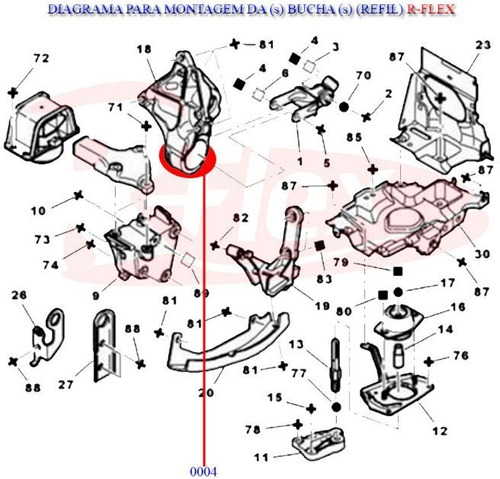 1 bucha 70mm do coxim inferior motor citroen xasara picasso