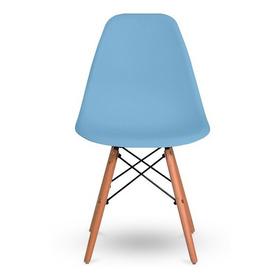 1 Cadeira De Jantar Base Madeira Eiffel Charles Eames Wood