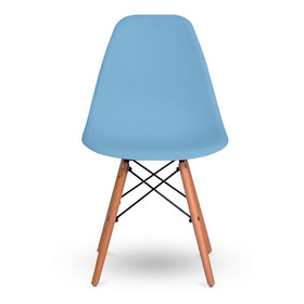 1 Cadeira De Jantar Eiffel Charles Eames Wood Base Madeira