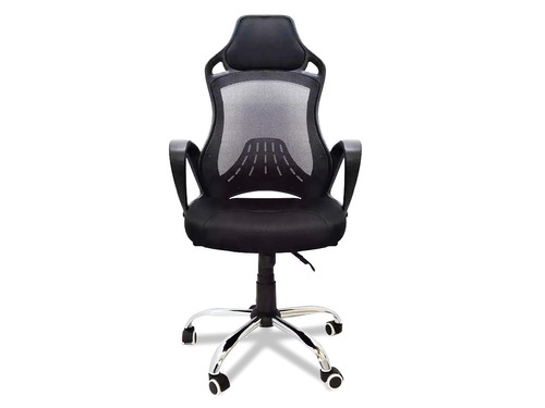 1 cadeira giratória office gamer discreet design preto
