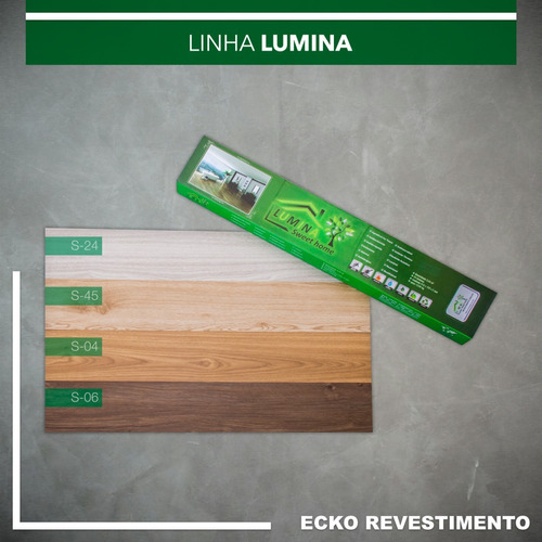 1 caixa de piso vinílico amadeirado lumina residencial