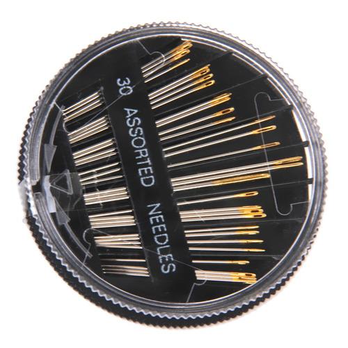 1 caja de agujas de coser a mano + 1 pieza de alfiletero con