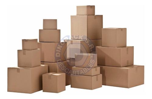 1 caja de carton corrugado reforzada 200 lbs!! 60x40x40