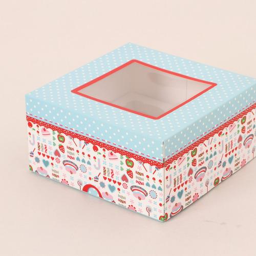 1 caja de regalos para 4 ponquecitos cupcake model caramelo