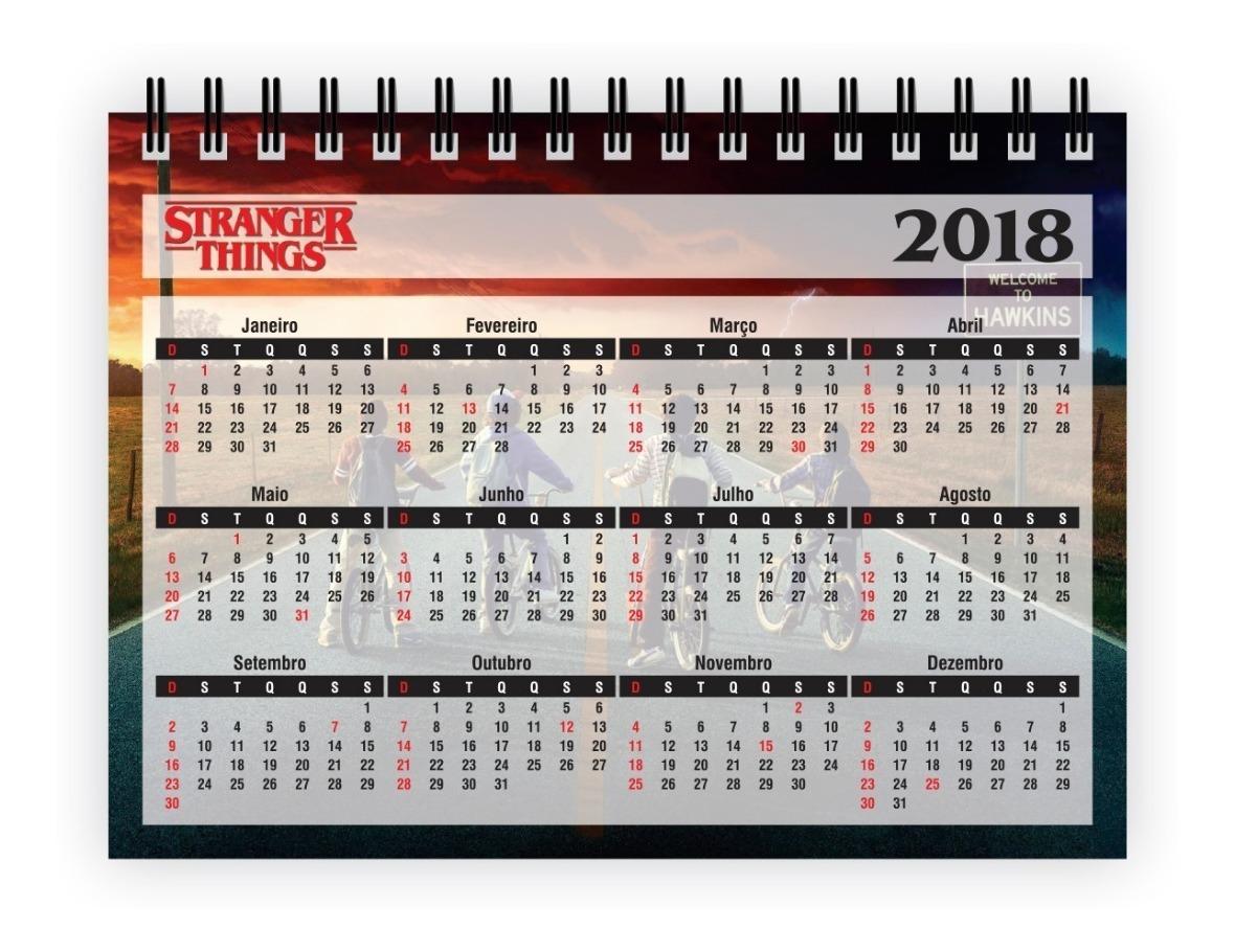 Calendario Stranger Things.1 Calendario De Mesa 2019 Stranger Things 15x11cm 16 Paginas