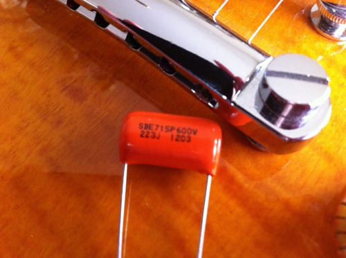 1 capacitor orange drop 0.22uf guitarra-bajo con humbucker