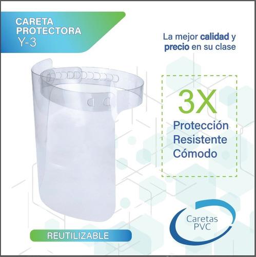 1 careta protectora para niño + cubreboca + limpiador gratis