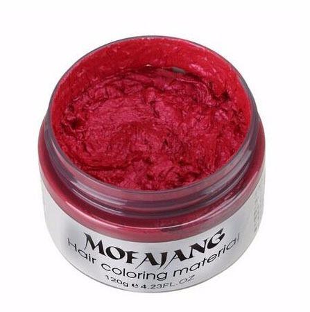 1 cera color cabello pelo mofajang plata morado rojo azul