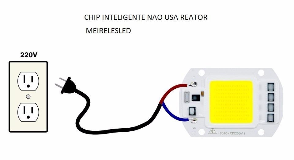1 chip led 50w 6000k inteligente n o usa fonte 220v branco r 22 00 em mercado livre. Black Bedroom Furniture Sets. Home Design Ideas