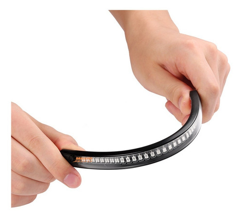 1 cinta led stop con direccionales flexible imper moto/carro