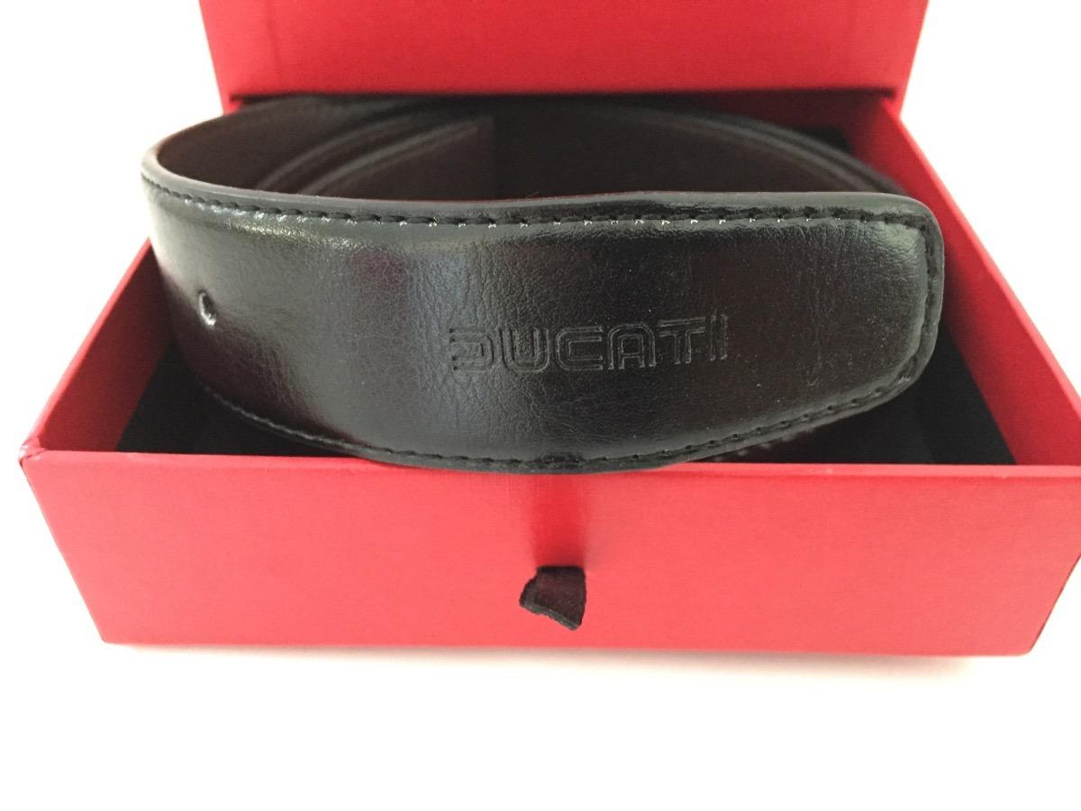 b3799679c 1 cinturon 2 hebillas ducati piel negro/café talla chica. Cargando zoom.