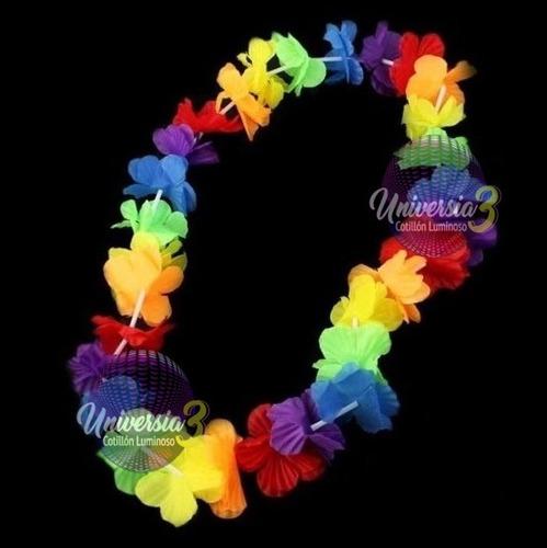 1 collar hawaiano tela s l / cotillon carioca luminoso combo