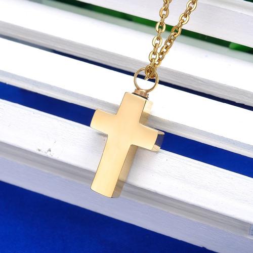 1 collar urna relicario cenizas cruz diferentes inoxidable