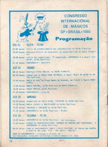 1º congreso internacional de magos san pablo brasil magia (a