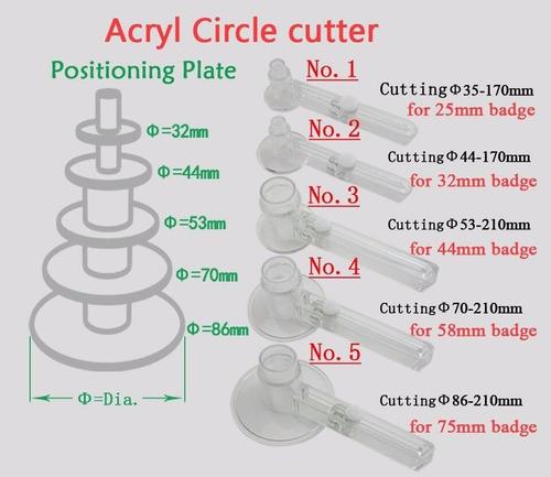 1 cortador circular para chapitas