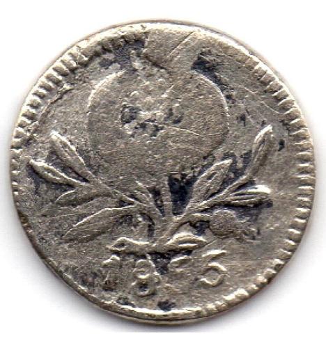 1 cuarto de real 1855 popayán, plata