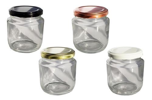 1 cx com 24 potes vidro belém tampa branca geléia bolo 240ml
