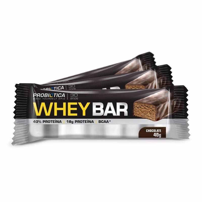 42a852e15 1 Cx Whey Bar Chocolate Probiotica 24 Unidades Whey Protein - R  75 ...