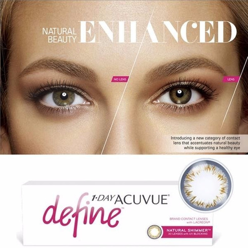 1-day Acuvue Define Shimmer ( Efeito Realce Médio ) - 2.00 - R  159 ... c9465b06a2