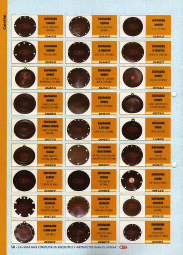 1 diafragma heineken 12/14 lts. c/cort  90 mm   art.00473/3