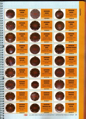 1 diafragma tartaglia tela 73 mm  art.03264/2