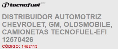 1 distribuidor chevrolet express 6 cil 4.3l 96-05