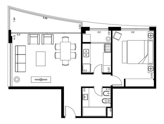1 dormitorio | avda. roosevelt