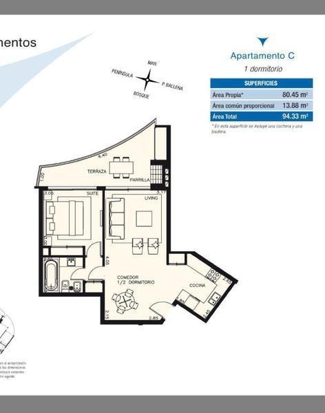 1 dormitorio   avda ruta 10 juan díaz de solis