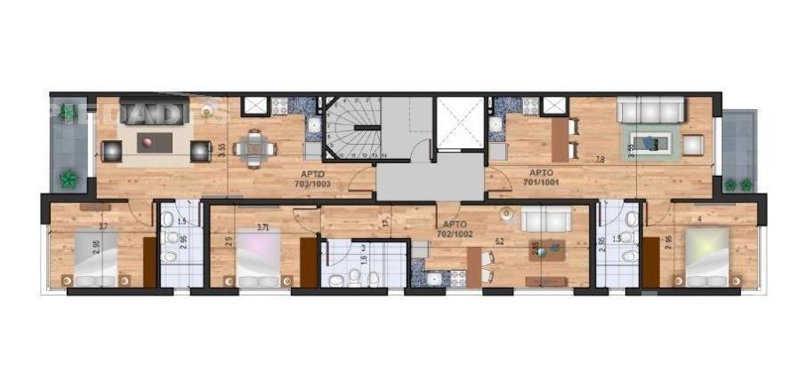 1 dormitorio   benito blanco al 3300