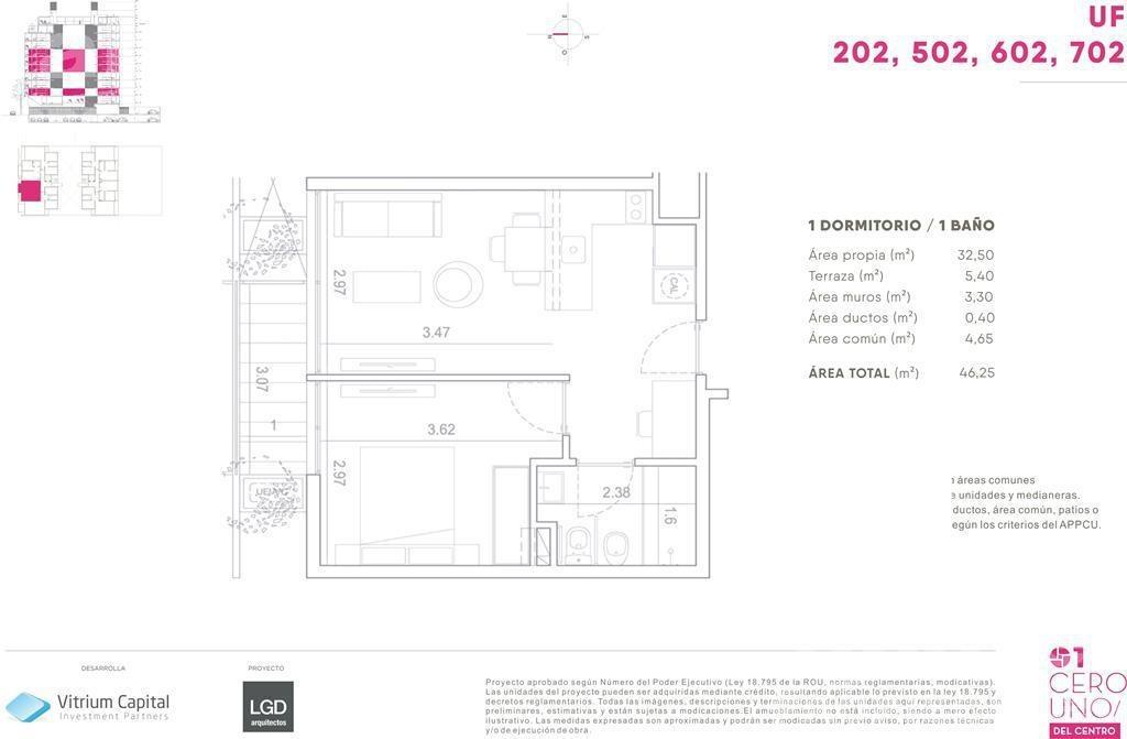 1 dormitorio   canelones al 1200