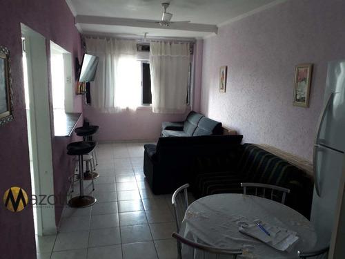 1 dormitório com vista para o mar vila tupi, praia grande-sp - v539