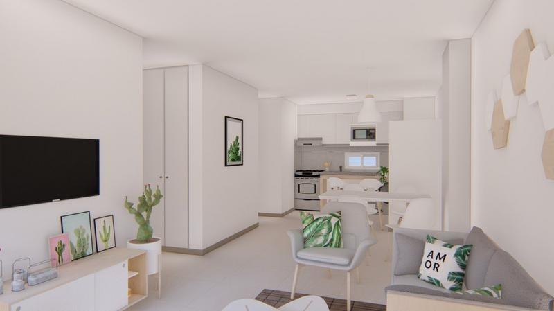 1 dormitorio con balcon amenities -